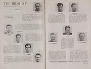 Irish Rugby Football Union, Ireland v France, Five Nations, Landsdowne Road, Dublin, Ireland, Saturday 22nd January, 1955,.22.1.1955, 1.22.1955,..Referee- Mr Ivor David, Welsh Rugby Union, ..Score- Ireland 3 - 5 France,..Irish Team, ..W R Tector, Wearing number 15 Irish jersey, Full Back, Wanderers Rugby Football Club, Dublin, Ireland, ..S J Byrne, Wearing number 14 Irish jersey, Right Wing, University College Dublin Rugby Football Club, Dublin, Ireland, ..N J Henderson, Wearing number 13 Irish jersey, Right centre, N.I.F.C, Rugby Football Club, Belfast, Northern Ireland,..A J O'Reilly, Wearing number 12 Irish jersey, Left Centre, Old Belvedere Rugby Football Club, Dublin, Ireland,  ..A C Pedlow, Wearing number 11 Irish jersey, Left wing, Queens University Rugby Football Club, Belfast, Northern Ireland,..J W Kyle, Wearing number 10 Irish jersey, Ouside Half, N.I.F.C, Rugby Football Club, Belfast, Northern Ireland,..J A O'Meara, Wearing number 9 Irish jersey, Scrum, Dolphin Rugby Football Club, Cork, Ireland, ..P J O'Donoghue, Wearing  Number 1 Irish jersey, Forward, Bective Rangers Rugby Football Club, Dublin, Ireland,..R Roe, Wearing number 2 Irish jersey, Forward, Landsdowne Rugby Football Club, Dublin, Ireland, ..F E Anderson, Wearing number 3 Irish jersey, Forward, N.I.F.C, Rugby Football Club, Belfast, Northern Ireland,..W J O'Connell, Wearing number 4 Irish jersey, Forward, Landsdowne Rugby Football Club, Dublin, Ireland,..R H Thompson, Wearing number 5 Irish jersey, Captain of the Irish Team, Forward, Instonians Rugby Football Club, Belfast, Northern Ireland,..J S McCarthy, Wearing number 6 Irish jersey, Forward, Dolphin Rugby Football Club, Cork, Ireland, ..J R Kavanagh, Wearing number 7 Irish jersey, Forward, Wanderers Rugby Football Club, Dublin, Ireland, ..M J Cunningham,  Wearing number 8 Irish jersey, Forward, University college Cork Rugby Football Club, Cork, Ireland,  ..French Team, ..M Vannier, Wearing number 15 French jersey, Full Back, Racing Club