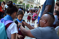 HAVANA, Sept. 6, 2016 (Xinhua) -- A girl prepares for the opening of a new semester at the Elementary School of Simon Rodriguez in Havana, Cuba, on Sept. 5, 2016. About 2 million Cuban students returned to schools and universities on Monday. (Xinhua/Joaquin Hernandez) (zcc) (Credit Image: © Joaquin Hernandez/Xinhua via ZUMA Wire)