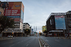 JOHANNESBURG, April 11, 2020  Photo taken on April 10, 2020 shows an empty street in Johannesburg, South Africa..  South African President Cyril Ramaphosa on Thursday announced that the country's lockdown aimed at stemming the spread of COVID-19 would be extended for another two weeks. (Photo by YeshielXinhua) (Credit Image: © Xinhua via ZUMA Wire)