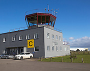 Control tower, Cotswold Airport, Cirencester, Gloucestershire, England, UK