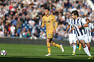 Dele Alli of Tottenham Hotspur in action. Premier league match, West Bromwich Albion v Tottenham Hotspur at the Hawthorns stadium in West Bromwich, Midlands on Saturday 15th October 2016. pic by Andrew Orchard, Andrew Orchard sports photography.