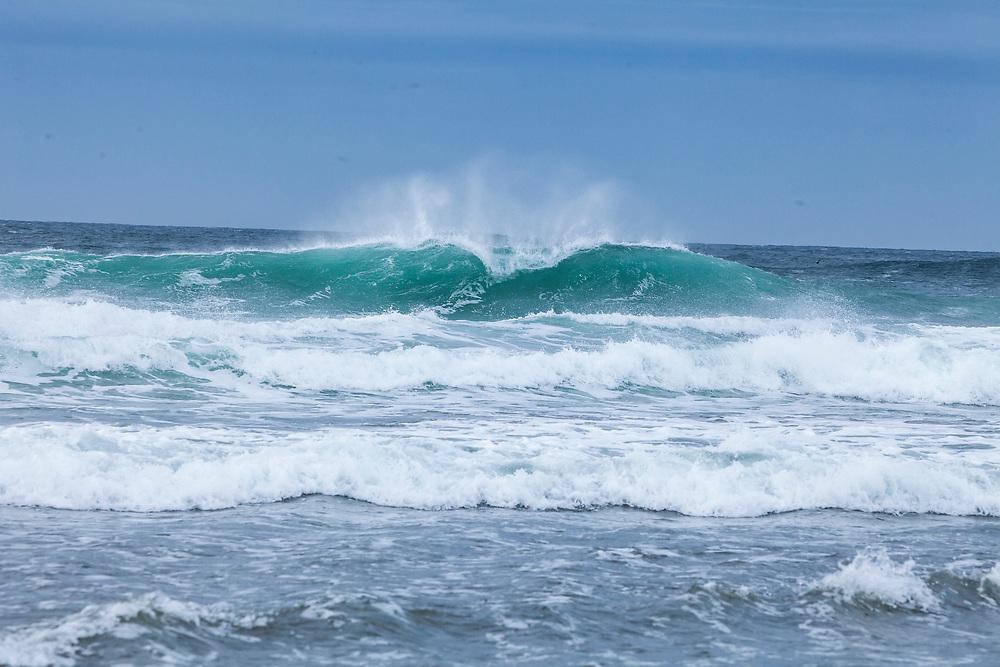 Breaking waves at Fort Stevens State Park, Oregon, USA.