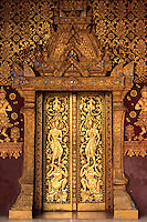 Wat Mai Suwannaphumaham, often called Wat Mai is a Buddhist temple in Luang Prabang.  It is the largest and most richly decorated of the temples in Luang Prabang. Built in the 18th century it is located near the Royal Palace Museum.  An emerald Buddha statue sits inside the red-gold interior
