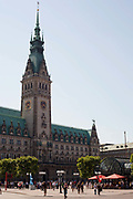 Jungfernstieg building, Central station square, Hamburg, Germany.