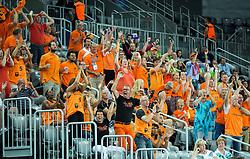 08-09-2015 CRO: FIBA Europe Eurobasket 2015 Slovenie - Nederland, Zagreb<br /> De Nederlandse basketballers hebben de kans om doorgang naar de knockoutfase op het EK basketbal te bereiken laten liggen. In een spannende wedstrijd werd nipt verloren van Slovenië: 81-74 / Supporters of Netherlands. Photo by Vid Ponikvar / RHF