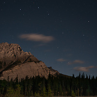 The Big Dipper hovers over Cascade Mountain in Banff National Park, Alberta, Canada.