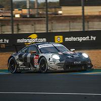 #88, Porsche 911 RSR, Dempsey-Proton Racing, drivers: Dominique Bastien, Adrien De Leener, Thomas Prening, LM GTE Am, at the Le Mans 24H, 2020, 20 September 2020