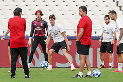 October 2, 2018 - Na - Athens, 10/01/2018 - Sport Lisboa e Benfica held the training to adapt to the pitch of the Olympic Stadium in Athens for the game of the second day of the Champions League 2018/2019 against the AEK of Athens. Mile Svilar and Conti  (Credit Image: © Atlantico Press via ZUMA Wire)