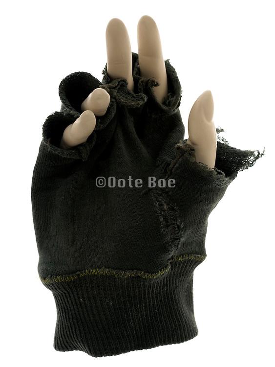 mannequin hand with fingerless gloves