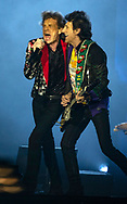 Mick Jagger and Ronnie Wood as the Rolling Stones perform at the Hard Rock Stadium in Miami Gardens on Friday, August 30, 2019