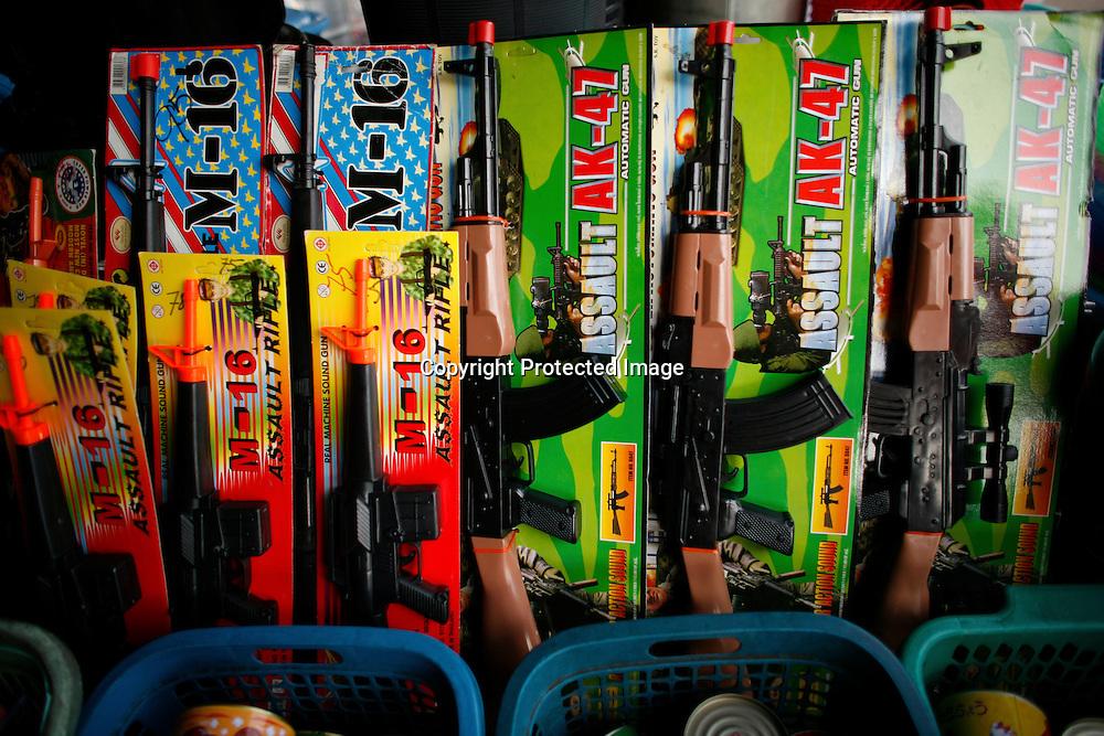 Toy guns at a market in Bangkok