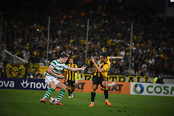 August 14, 2018 - Athens, Greece - Hendry Jack of Celtic compete against Victor Klonaridis during   the UEFA Champions League 3rd Qualifying round second  leg match AEK FC  vs Celtic FC at the Olympic Stadium of Athens , on 14 August 2018. (Credit Image: © Giannis Alexopoulos/NurPhoto via ZUMA Press)
