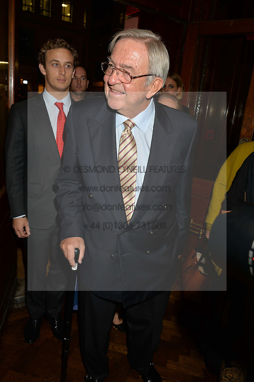 KING CONSTANTINE OF GREECE at a party to celebrate the launch of the Maison Assouline Flagship Store at 196a Piccadilly, London on 28th October 2014.  During the evening Valentino signed copies of his new book - At The Emperor's Table.