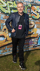 © Licensed to London News Pictures . 08/08/2015 . Siddington , UK . HOWARD JONES backstage at The Rewind Festival of 1980s music , fashion and culture at Capesthorne Hall in Macclesfield . Photo credit: Joel Goodman/LNP