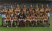 Kilkenny-All-Ireland Hurling Champions 2000. Back Row: P Larkin, N Hickey, H Shefflin, J Hoyne, A Commerford, P Barry, J Power, E Kennedy. Front Row: M Kavanagh, C Carter, J McGarry, W O'Connor (capt), D Byrne, D J Carey, B McEvoy.