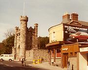 old dublin street photos October 1983 Patriots inn kilmainham fiat uno advertisment lounge and bar Old amateur photos of Dublin streets churches, cars, lanes, roads, shops schools, hospitals