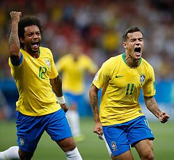 June 17, 2018 - Rostov Do Don, Rússia - ROSTOV DO DON, RO - 17.06.2018: BRAZIL VS SWITZERLAND - Philippe Coutinho of Brazil celebrates after scoring a goal during Brazil-Switzerland match valid for the first round of group E of the 2018 World Cup, held at the Rostov Arena in Rostov on Don, Russia. (Credit Image: © Marcelo Machado De Melo/Fotoarena via ZUMA Press)