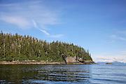 Rainforest, Rocks and Chugach Mountains, Prince William Sound, AK.TIF