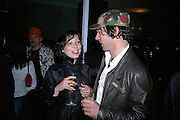 EVE RACINE AND THOMAS ZIPP, private view  of new exhibition by Tim Stoner , Alison Jacques Gallery in new premises in Berners St., London, W1 ,Afterwards across the rd. at the Sanderson Hotel. 3 May 2007. DO NOT ARCHIVE-© Copyright Photograph by Dafydd Jones. 248 Clapham Rd. London SW9 0PZ. Tel 0207 820 0771. www.dafjones.com.