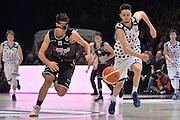 Luca Campogrande, Tommaso Oxilia<br /> Segafredo Virtus Bologna - Kontatto Fortitudo Bologna<br /> Campionato Basket LNP 2016/2017<br /> Bologna 06/01/2017<br /> Foto Ciamillo-Castoria