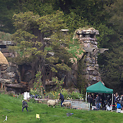 Filming takes place on the set of Executive producer, writer and director Sir Peter Jackson (centre) sequel 'The Hobbit: An Unexpected Journey' in a remote valley in Paradise,  Glenorchy, 66km from Queenstown. South Island, New Zealand. 22nd November, 2011