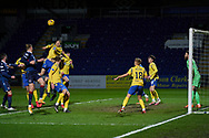 A Ross County corner kick during the Scottish Premiership match between Ross County FC and St Johnstone FC at the Global Energy Stadium, Dingwall, Scotland on 2 January 2021