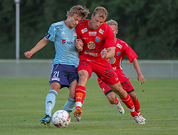 Mathias Pepke (FC Helsingør) under træningskampen mellem FC Helsingør og IS Halmia (Sverige) den 24. juli 2012 på Helsingør Stadion (Foto: Claus Birch).