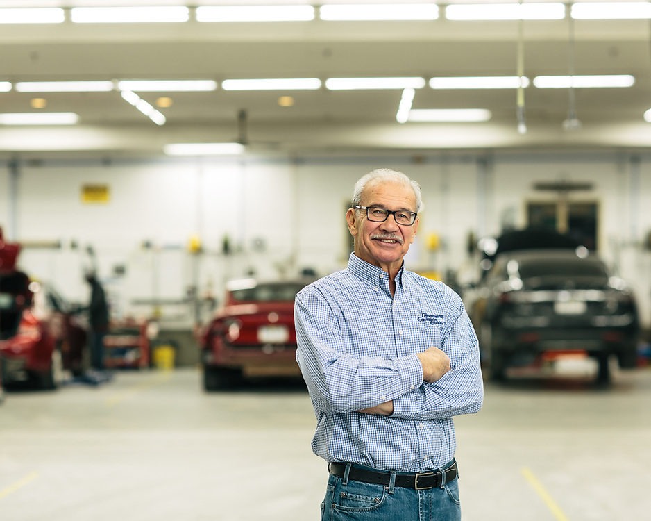 21 November 2018– Boyd Dingman is photographed at Dingman's Collision Center as the face of auto body repair for FACES 2019.