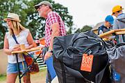 Bon Voyage, people are already preparing to leave - The 2017 Glastonbury Festival, Worthy Farm. Glastonbury, 25 June 2017