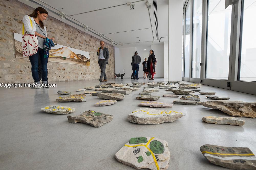 art installations by Abdullah Al Saadi at 2015 Sharjah Biennial art festival in Sharjah united Arab Emirates