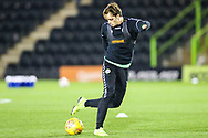 Forest Green Rovers Theo Archibald(18) warming up during the The FA Cup 1st round replay match between Forest Green Rovers and Oxford United at the New Lawn, Forest Green, United Kingdom on 20 November 2018.