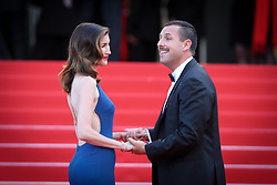Jackie Sandler and Adam Sandler attend 'The Meyerowitz Stories' premiere during the 70th annual Cannes Film Festival at Palais des Festivals on May 21, 2017 in Cannes, France. Photo by Shootpix/ABACAPRESS.COM