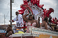 Float in the Zulu parade on Mardi Gras day in New Orleans.