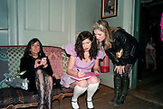 GIA MILLS; XANTHE MILTON; SOPHIE HARLEY, Xanthie Milton / Cookie Girl Book Launch 'Eat Me'<br /> at Paradise by way of Kensal Green London. 2 March 2010