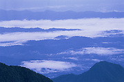 View from Tres Cruses<br />Crossing east over the Andes into Manu Cloud Forest<br />Manu National Park<br />PERU.  South America