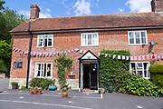Historic village pub The Horseshoe, Ebbesborne Wake,  Cranborne Chase, Wiltshire, England, UK