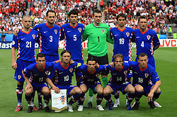 Team of Croatia during the UEFA EURO 2008 Group B soccer match between Austria and Croatia at Ernst-Happel Stadium, on June 8,2008, in Vienna, Austria.  (Photo by Vid Ponikvar / Sportal Images)