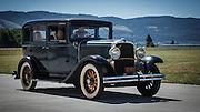 USA, Oregon, Hood River, Western Antique Aeroplane and Automobile Museum, a Desoto.