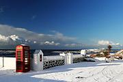 Unusually heavy snowfall in Port Wemyss, Isle of Islay