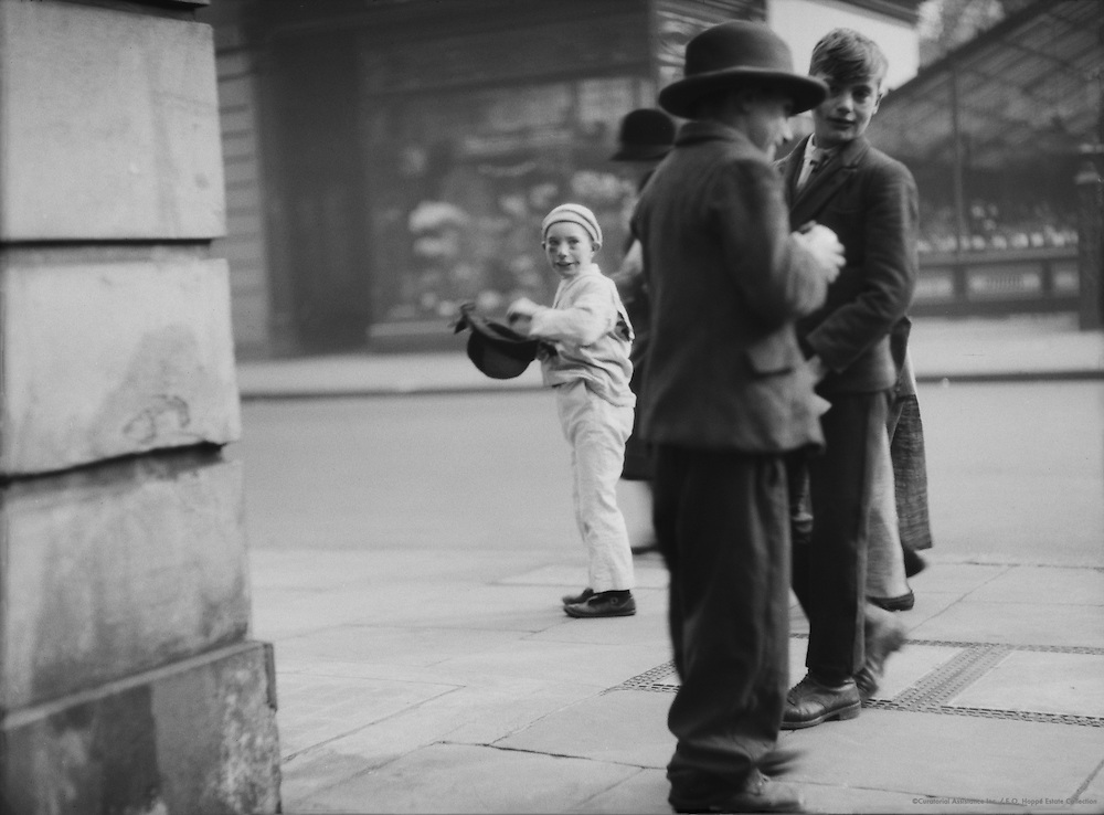 Street Urchins on Guy Fawkes Day, London, 1929