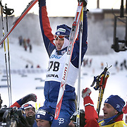 KIRUNA 20021122<br /> Vincent Vittoz (FRA) won the men,s  World Cup 10 km cross country  in Kiruna, Sweden November 23, 2002.<br /> Vittoz won with time 23.59,9 ahead of Pietro Piller Cottrer (ITA)  second and Fulvio Valbusa (ITA) in third place.<br /> Picture: Vincent Vittoz (<br /> FOTO: Anders Wiklund/SCANPIX Code 50030