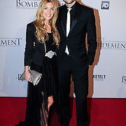 NLD/Rotterdam/20121218 - Premiere het Bombardement , Simon Keizer en partner Annemarie Hoek