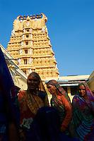 Inde, etat du Karnataka, Mysore, colline de Chamundi, temple de Sri Chamundeswari // India, Karnataka, Mysore, Chamundi hill, Sri Chamundeswari temple