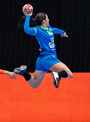 Maja Svetik of Slovenia in action during the Women's friendly match between Netherlands and Slovenia at De Maaspoort on march 19, 2021 in Den Bosch, Netherlands (Photo by RHF Agency/Ronald Hoogendoorn)