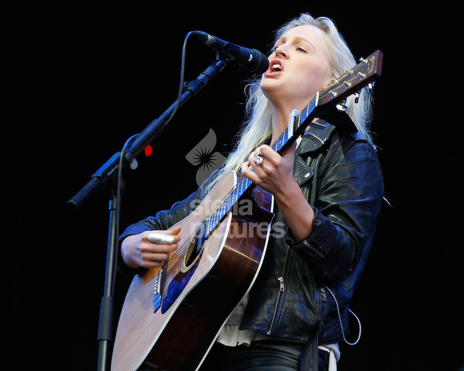 Picture by Daniel Chesterton/Stella Pictures. .14/07/12.Laura Marling performs at Latitude, a music and arts festival in Suffolk..