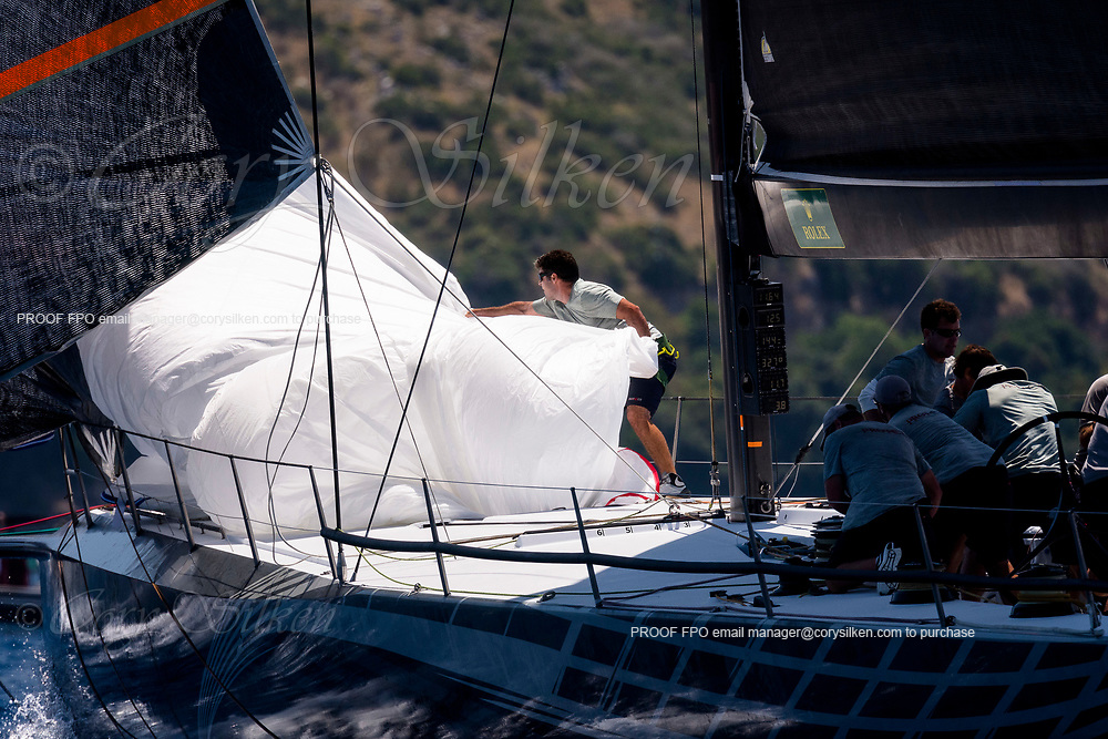 Proteus sailing in the  Corfu Challenge, day two.