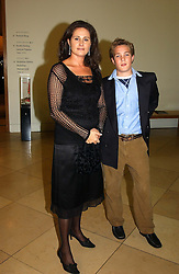 HENRIETTA, COUNTESS OF CALEDON and her son VISCOUNT ALEXANDER son of the 7th Earl of Caledon at the Depal Trust 2in1 Art Party at The National Portrait Gallery, London on 25th October 2004.<br />
