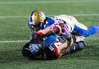 OTTAWA, ON - OCT 05: CFL match between the Ottawa RedBlacks and the Winnipeg Bombers at TD Place Stadium in Ottawa, ON. Canada on Oct. 5, 2018.<br /> <br /> PHOTO: Steve Kingsman/Freestyle Photography