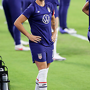 ORLANDO, FL - JANUARY 22:  Ali Krieger #11 of United States plays against Colombia at Exploria Stadium on January 22, 2021 in Orlando, Florida. (Photo by Alex Menendez/Getty Images) *** Local Caption *** Ali Krieger