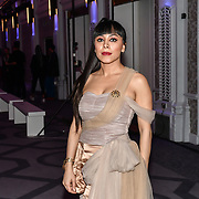 Samira Ebrahimi attend Stories From Arabia Fashion Show AW19, De Vere Grand Connaught Rooms, London, UK. 16 Feb 2019.